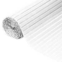 Nature Dwustronna mata ogrodzeniowa, PVC, 1,5 x 3 m, biała