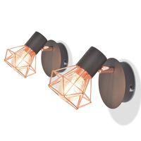 vidaXL 2 Lampy ścienne z 2 diodami LED w formie żarówek, 8 W