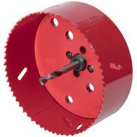 wolfcraft Otwornica bimetalowa, 112 mm, czerwona, 5496000