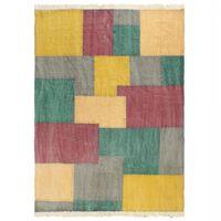 vidaXL Ręcznie tkany kilim, bawełna, 160x230 cm, z nadrukiem, kolorowy