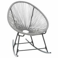 vidaXL Bujane krzesło ogrodowe, szare, rattan PE