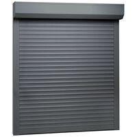vidaXL Roleta zewnętrzna, aluminiowa, 80 x 100 cm, antracytowa
