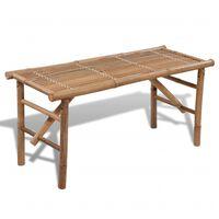 vidaXL Składana ławka ogrodowa, 118 cm, bambusowa