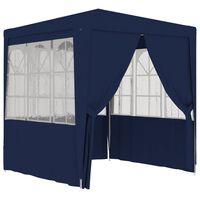 vidaXL Namiot imprezowy ze ściankami, 2,5x2,5 m, niebieski, 90 g/m²