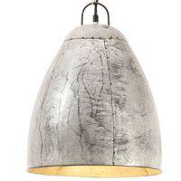 vidaXL Industrialna lampa wisząca, 25 W, srebrna, okrągła, 32 cm, E27
