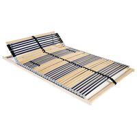 vidaXL Stelaż do łóżka z 42 listwami, 7 stref, 140 x 200 cm