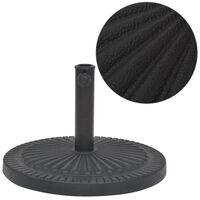 vidaXL Podstawa do parasola, okrągła, czarna, 14 kg, z żywicy