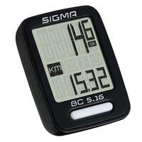Sigma Licznik rowerowy BC 5.16, czarny, 5160