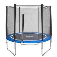 Trampolina Game On Sport z siatką zabezpieczającą niebieski 244 cm
