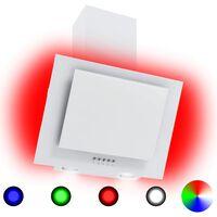 vidaXL Okap kuchenny LED RGB, 60 cm, stal nierdzewna i hartowane szkło