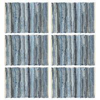 vidaXL Maty na stół, 6 szt, Chindi, niebieski dżins, 30x45 cm, bawełna