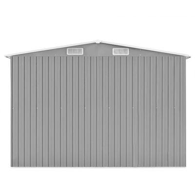 vidaXL Szopa ogrodowa, 257 x 298 x 178 cm, metal, szara