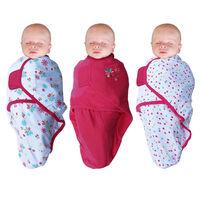Bo Jungle Otulacz dla niemowląt B-Wrap, kwiatuszek, 3 szt., różowy