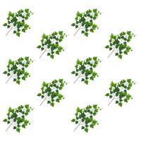 vidaXL Sztuczne gałązki winorośli, 10 szt., zielone, 70 cm