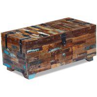 vidaXL Stolik kawowy-skrzynia z drewna odzyskanego 80x40x35 cm