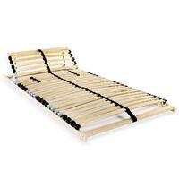 vidaXL Stelaż do łóżka z 28 listwami, 7 stref, 80 x 200 cm