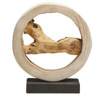 Dekoracyjna rzeźba jasne drewno OCAMPO