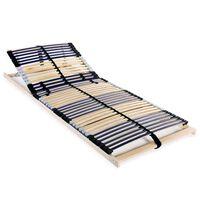 vidaXL Stelaż do łóżka z 42 listwami, 7 stref, 90 x 200 cm