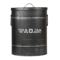 LABEL51 Pojemnik na pranie, 32x32x43 cm, M, antyczna czerń