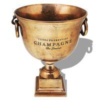 vidaXL Wiaderko na szampana w kształcie pucharu, miedziane, brązowe
