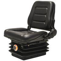 vidaXL Fotel do wózka widłowego/ciągnika z zawieszeniem i oparciem