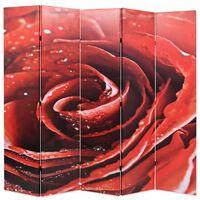 vidaXL Składany parawan, 200x170 cm, czerwona róża