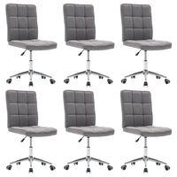 vidaXL Krzesła stołowe, 6 szt., jasnoszare, tapicerowane tkaniną