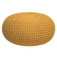 LABEL51 Puf wydziergany z bawełny, L, żółty
