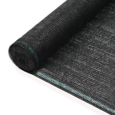 vidaXL Siatka ochronna do kortu tenisowego, HDPE, 1x25 m, czarna