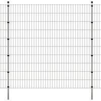 vidaXL Panele ogrodzeniowe 2D z słupkami - 2008x2030 mm 28 m Srebrne