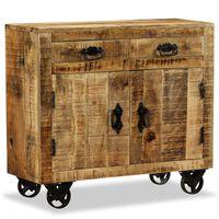 vidaXL Komoda z 2 szufladami i 1 szafką, drewno mango