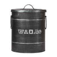 LABEL51 Pojemnik na pranie, 26x26x33 cm, S, antyczna czerń