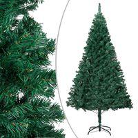 vidaXL Sztuczna choinka o grubych gałązkach, zielona, 240 cm, PVC