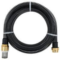 vidaXL Wąż ssący z mosiężnymi złączkami, 7 m, 25 mm, czarny
