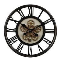 Gifts Amsterdam Zegar ścienny Radar Open, okrągły, czarny, 54,5 cm