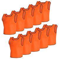10 par bezrękawników sportowych Junior pomarańczowe