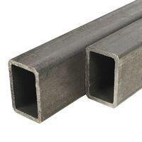 vidaXL Rury ze stali konstrukcyjnej, 2 szt, prostokątne, 2 m, 60x30x2 mm