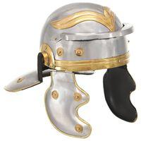 vidaXL Replika zabytkowego hełmu rzymskiego, LARP, srebrna stal