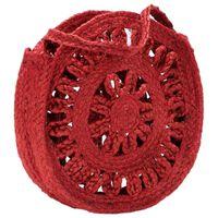 vidaXL Okrągła torebka, ażurowa, rdzawa, ręcznie robiona, jutowa