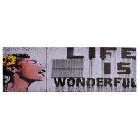 vidaXL Zestaw obrazów z napisem Life is Wonderful, kolorowy, 120x40 cm