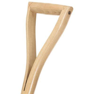 vidaXL Łopata z uchwytem w kształcie YD, stal i drewno jesionowe