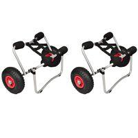 vidaXL Wózki do transportu kajaka, 2 szt., aluminiowe