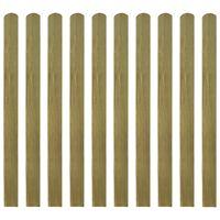 vidaXL 20 impregnowanych sztachet drewnianych, 120 cm