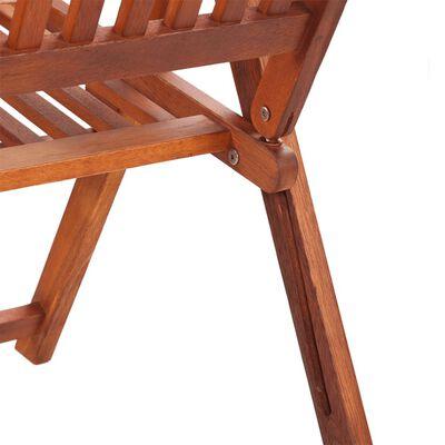 vidaXL Składane krzesła ogrodowe, 2 szt., lita akacja, brązowe