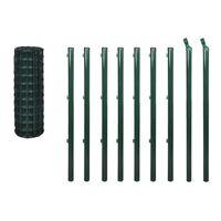 vidaXL Euro ogrodzenie, stalowe, 10 x 1,2 m, zielone