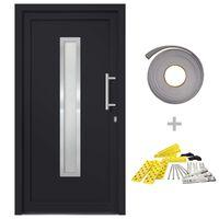 vidaXL Drzwi wejściowe zewnętrzne, antracytowe, 98 x 190 cm