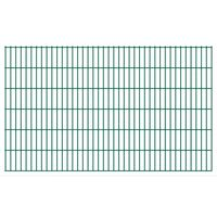 vidaXL Panele ogrodzeniowe 2D, 2,008 x 1,23 m, 36 m, zielone