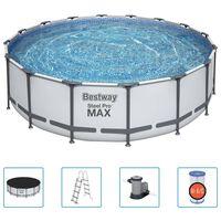 Bestway Basen Steel Pro MAX z akcesoriami, 488 x 122 cm