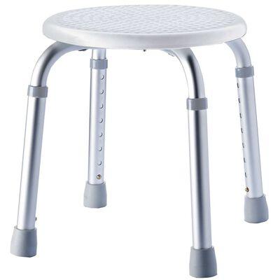 RIDDER Stołek łazienkowy, okrągły, biały, do 150kg, A00603101