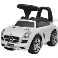 Mercedes Benz - samochód zabawka dla dzieci napędzany nogami biały